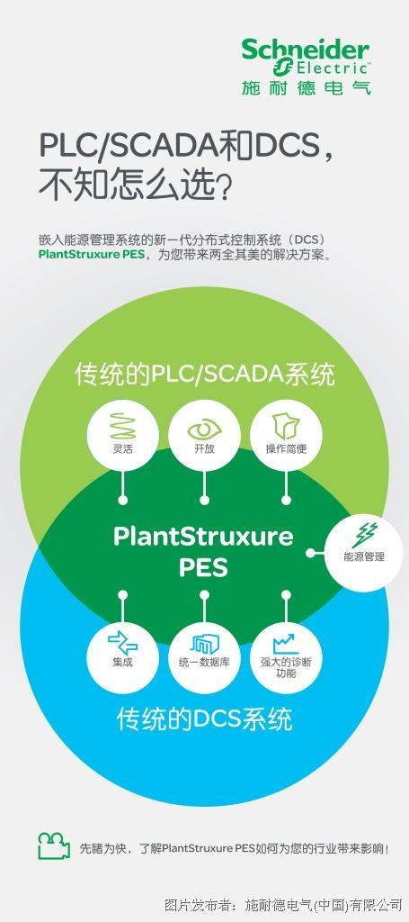 創新整合 再添節能增效新利器  施耐德電氣推出新一代分布式控制系統(DCS)——PlantStruxure? PES