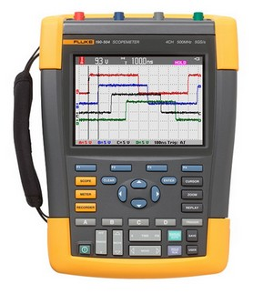 福禄克推出第一款具有500MHZ带宽、5GS/S实时采样率的四通道手持式示波器