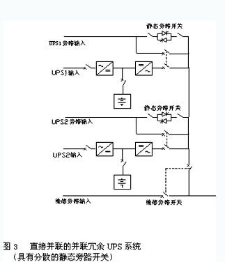 因此,有必要在各单机ups旁路输入电路中增加均流电感.