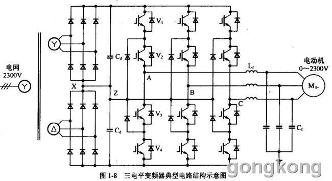 三电平高压变频器主电路图怎么理解
