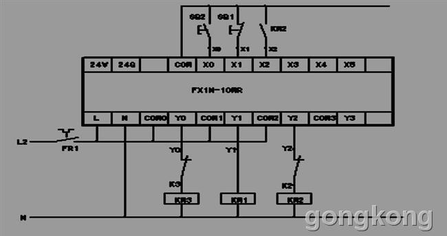 三菱plc输出亮灯但没有电压