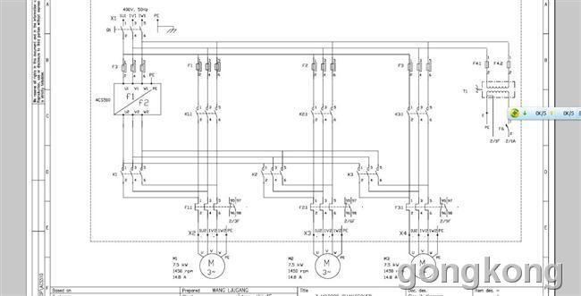 求acs510变频器恒压供水中一拖三的图纸和参数设置