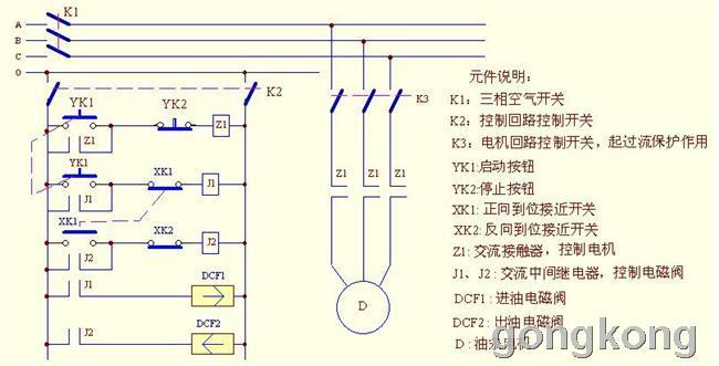 不锈钢剪机控制电气线路图图片