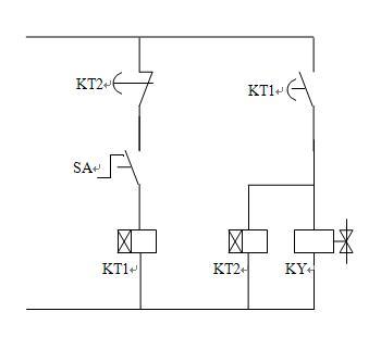 要求只用两个时间继电器控制一个电磁阀, &n