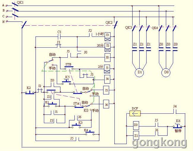 电工论坛 》   当第11次按下k1,j11得电吸合且自锁