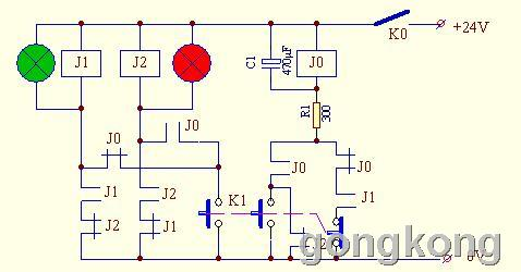 图一,继电器控制电路