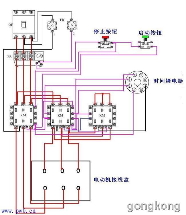 电机正反转原理图 星三角启动电路-专业自动化论坛