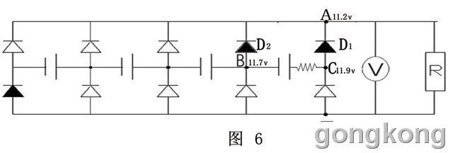 观察二极管伏安特性的电路图