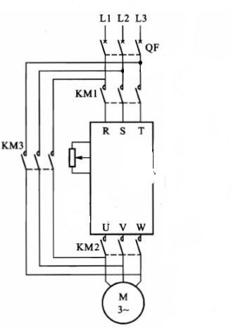 变频器进线端没有电,电机接线端接交流工频电带电机可以吗?