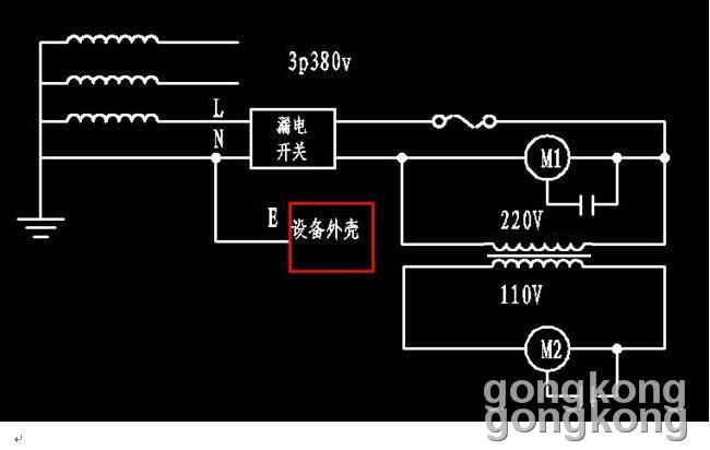 图中的110v降压变压器的图