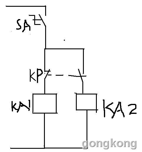 一个电接点压力表和两个继电器