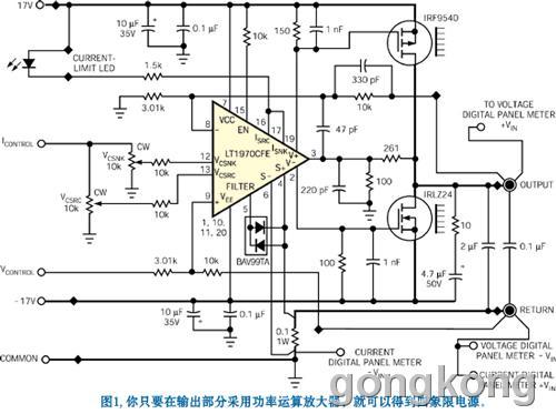 示出了用户控制模拟电路部分