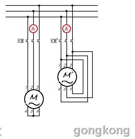 电机星接启动电路图