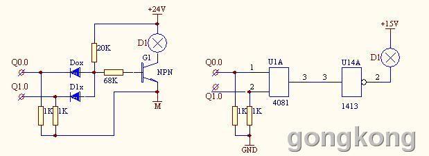 用矩阵法安放输入按钮或输出执行器件可实现增扩plc输入或输出点